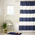 James' Room // West Elm Shower Curtain into Drapes