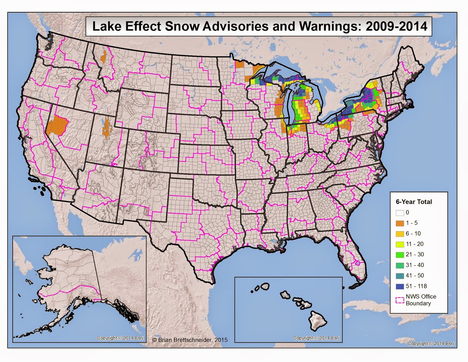 Brian Bs Climate Blog US Winter Weather Advisories And Warnings - Us weather warnings map