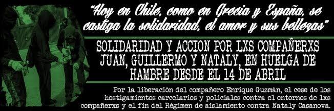 Llamado a la solidaridad con la huelga de hambre de Nataly, Juan, Guillermo y Enrique