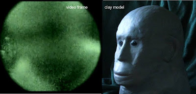 Clay model of the creature