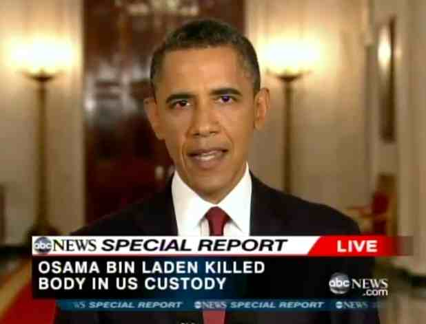barack obama bin laden speech May 2, 2011: obama addresses the nation on the capture and killing of osama bin laden.
