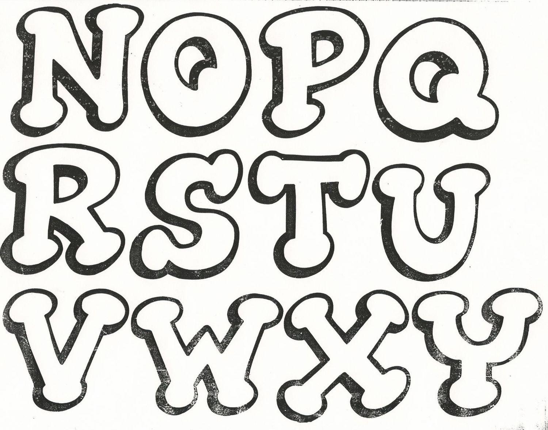 Molde de letras grandes y originales. | RECREAR