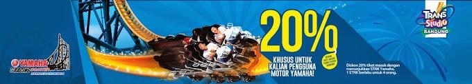 Diskon Masuk Trans Studio Bandung 20% Bagi Pengguna Motor Yamaha