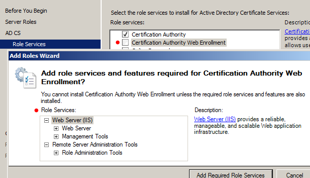 in other cases we may simply want to request a certificate for a single user or single computer if we install the certificate authority web enrollment