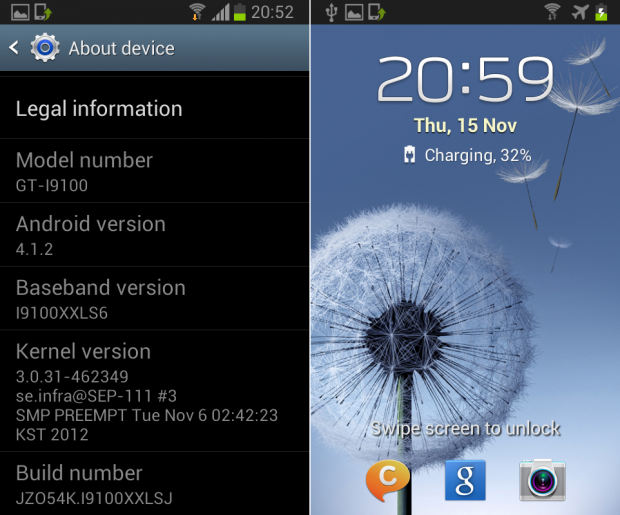 Samsung Galaxy S2 Android XXLSJ