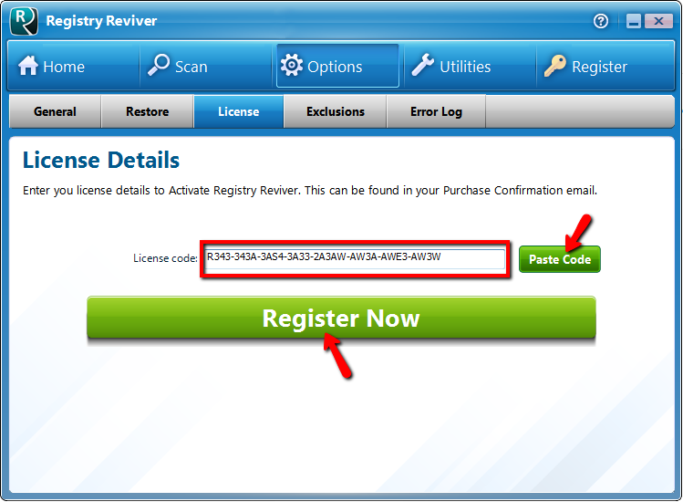 Ключ скачать registry reviver