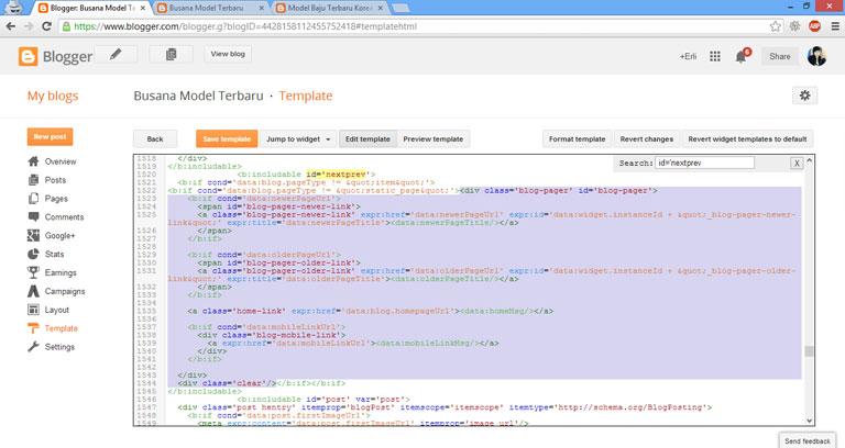 Cara Desain Template Blog dengan Pagination gambar 3