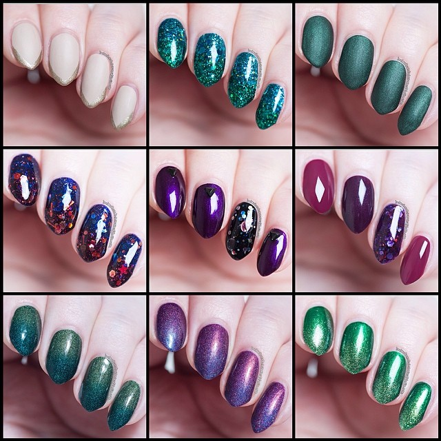 Untriedmay mani wrap up with Zoya, Femme Fatale Cosmetics, Illamasqua, Essie, Alanna Renee, A-England, Pretty Serious Cosmetics, Emily de Molly, Shades of Pheonix nail polishes