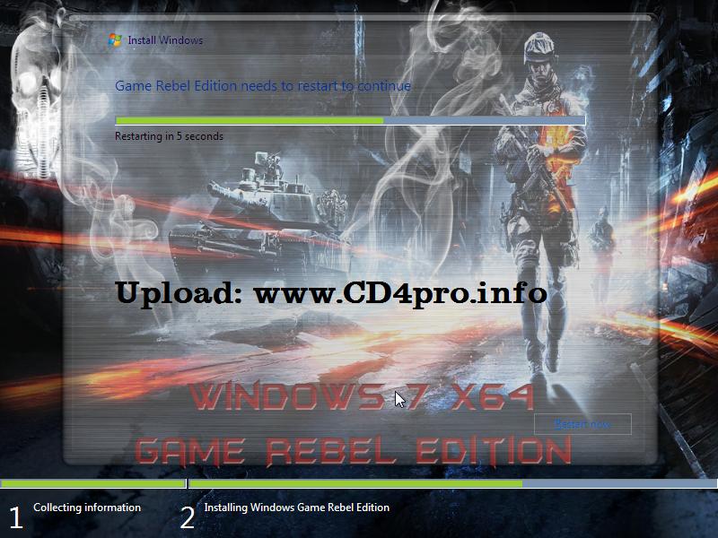 Windows 7 Game Rebel Edition X64 Bản Windows 7 64 bit ...