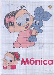 Gráfico para bordado - Mônica baby