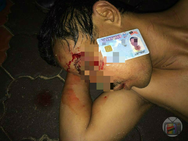 5 Gambar: Bekas Anggota Polis Di Belasah Penduduk Kampung Ketika Cuba Pecah Rumah