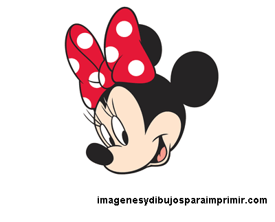 dibujo de minnie mouse