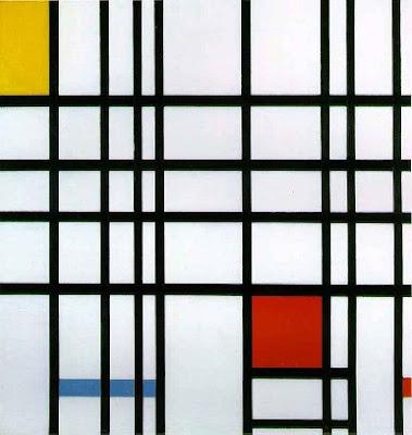 Composicion en rojo, amarillo y azul de Piet Mondrian