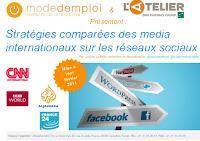 Le slide du mardi : Stratégies comparées des médias internationaux sur les réseaux sociaux -  par L'Atelier BNP