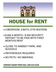 house for rent template