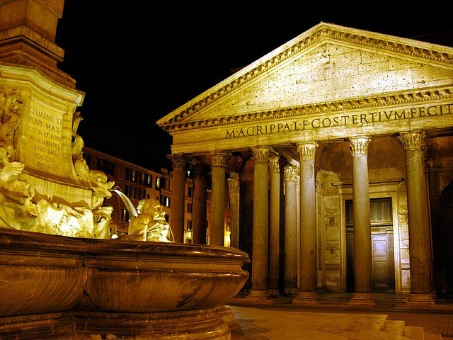 the pantheon temple dedicated to all