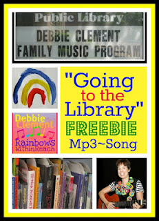 "photo of: Free Mp3 of ""Going to the Library"" by Debbie Clement (Digital Download at Teacher's Pay Teachers)"