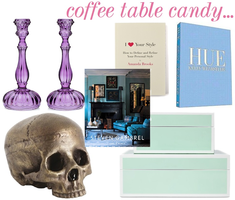 The Decorista-Domestic Bliss: Spring Decorating: Coffee table candy