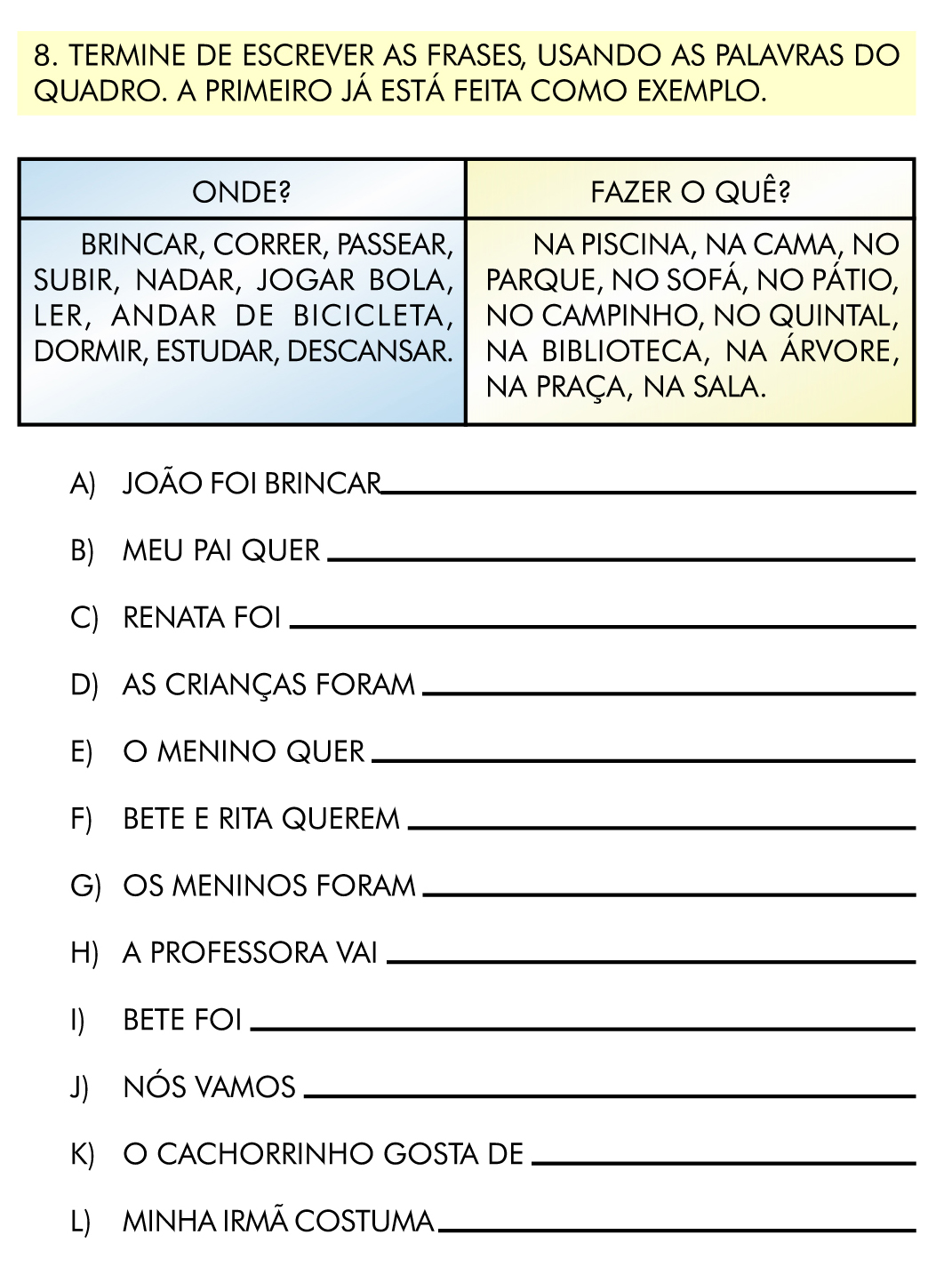 Verbos E Frases   4   Ano