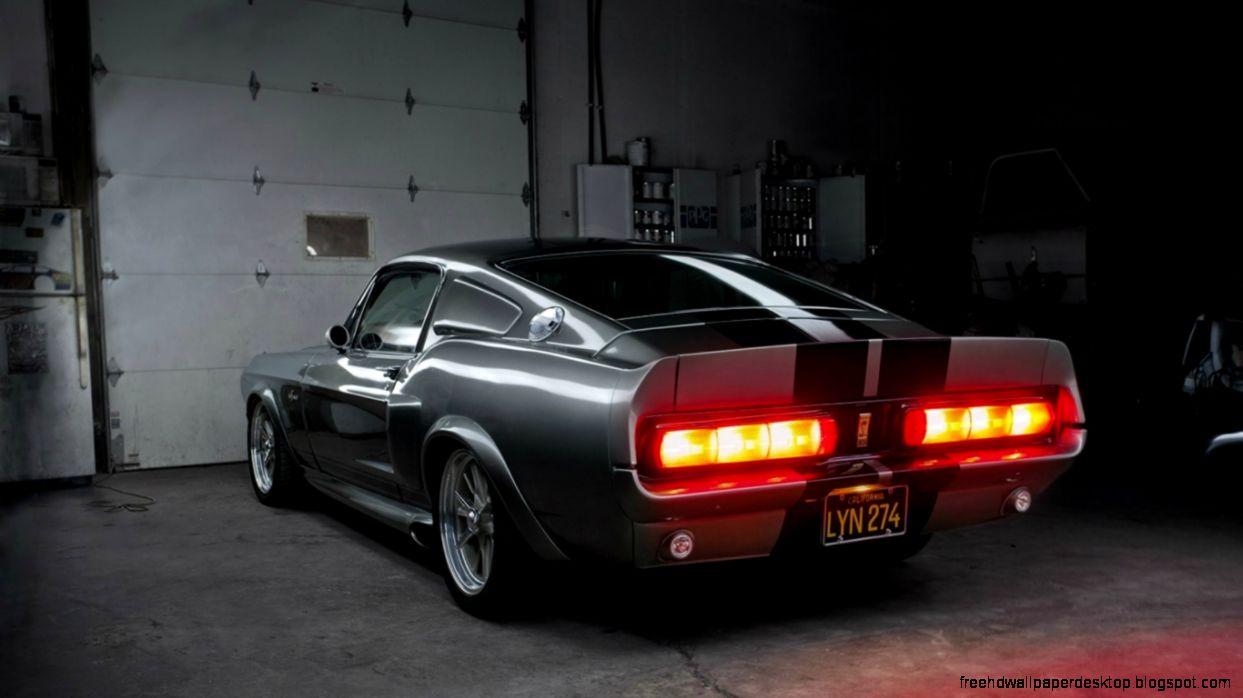 Ford Mustang Gt500 Shelby Eleanor Garage Back Hd Wallpaper