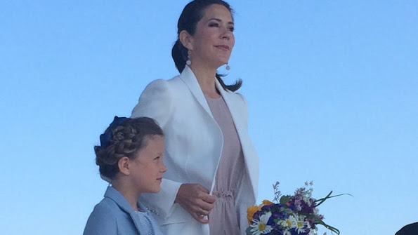 Princess Isabella of Denmark by her mother Crown Princess Mary of Denmark visited a Nature School and Falconry Centre
