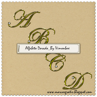 Alfabeto Bañado en Oro