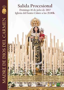 Cartel Madre de Dios del Carmen Arahal 2017
