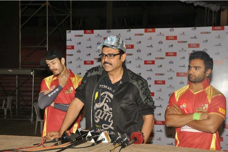 CCL 4 Telugu Warriors Match Practice Photo Stills
