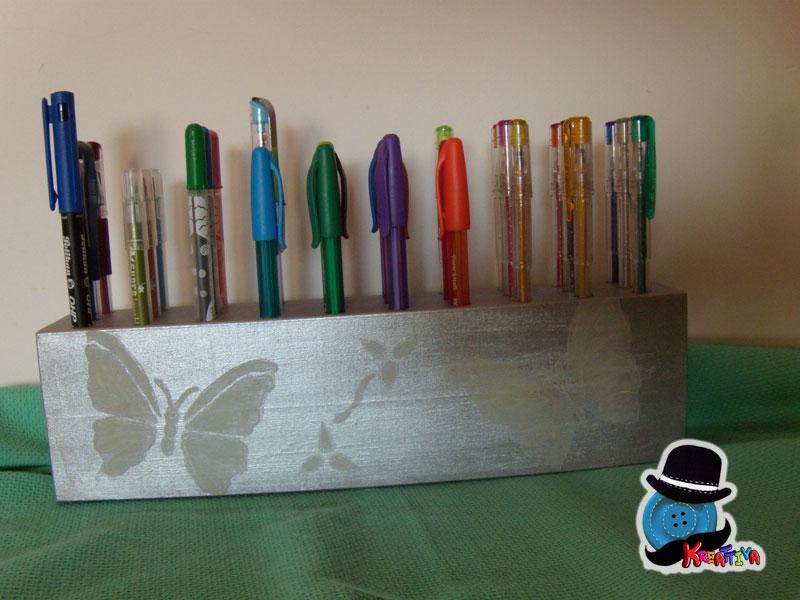 porta penne con decorazione fosforescente