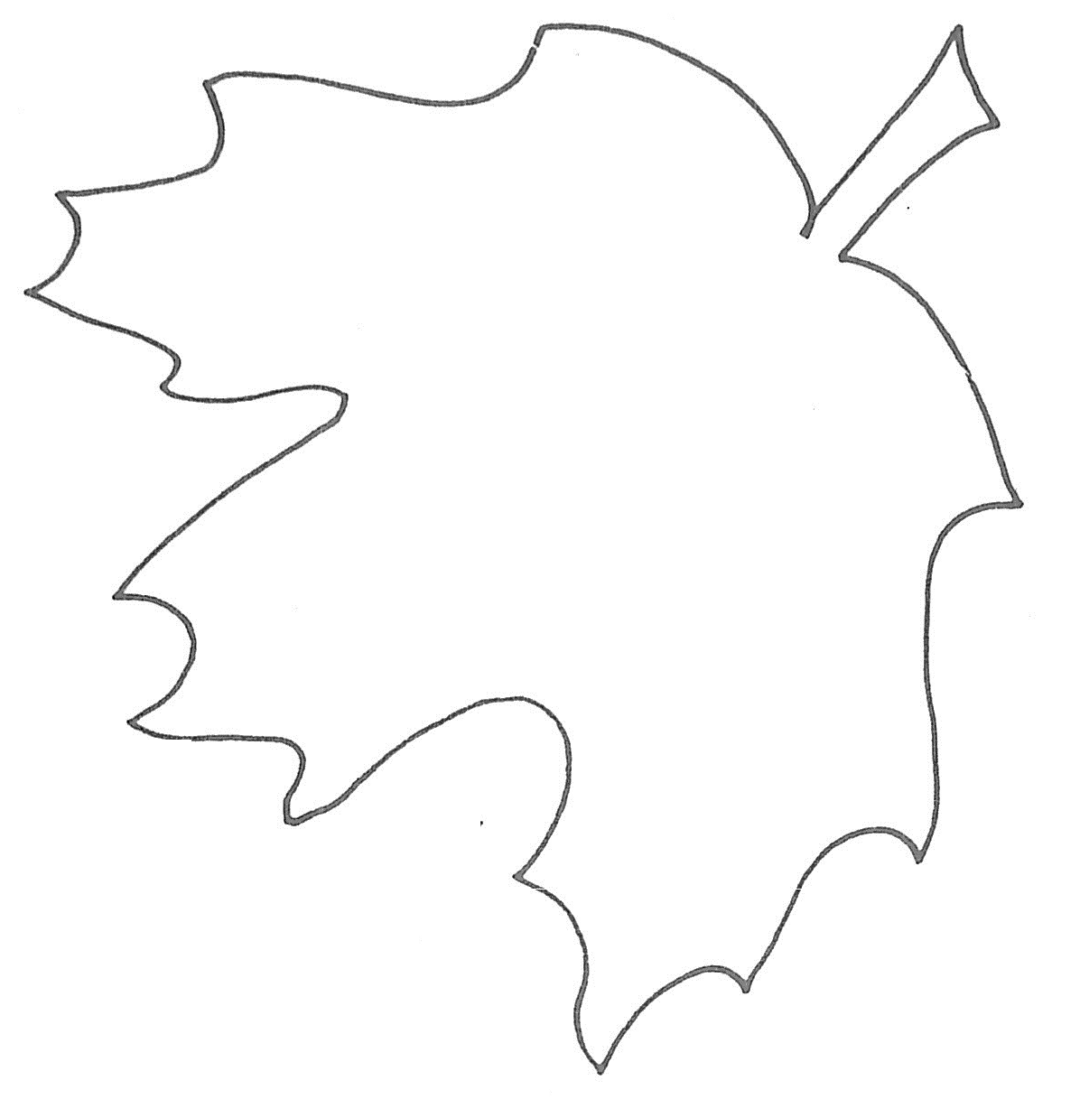 It is a graphic of Effortless Printable Leaf Patterns