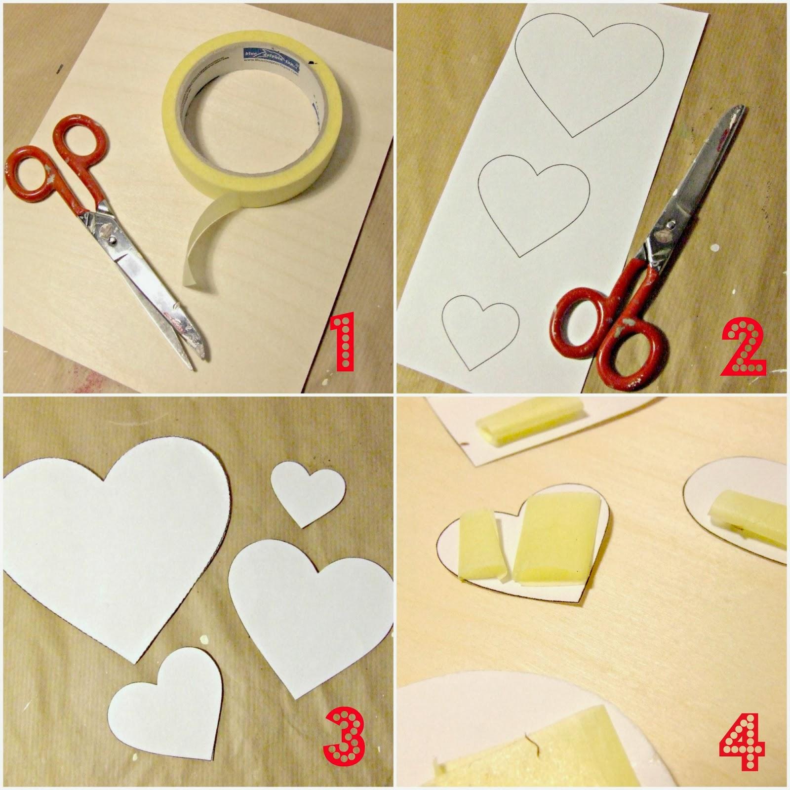 dekoracja walentykowa DIY w stylu shabby chic - jak zrobić? tutorial