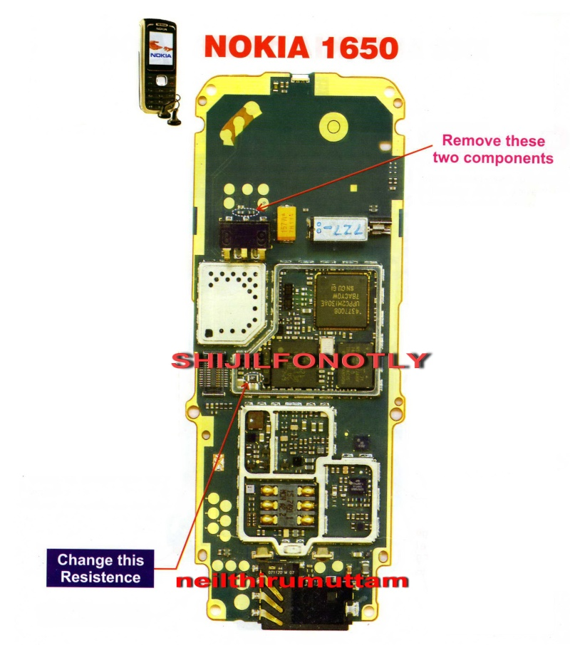 Nokia 1650 not charging solution
