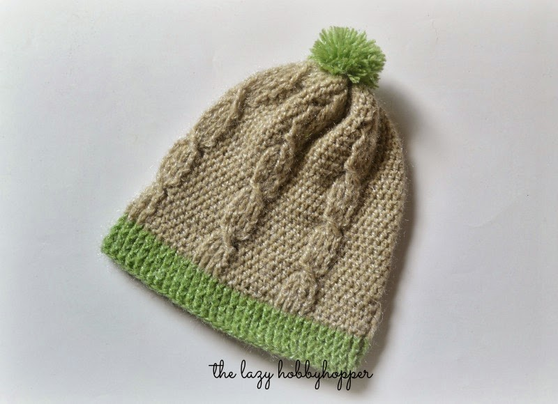 Crochet Cable Stitch : The Lazy Hobbyhopper: Crochet cable stitch hat - free pattern