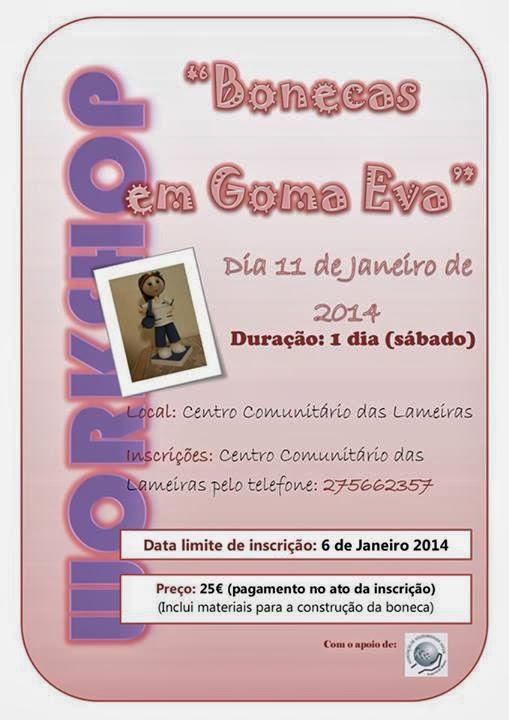Workshop: Bonecas em Goma Eva – Lameiras (Castelo Branco)