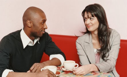 First Dates Across America (Infographic) - black man white woman love romance date couple