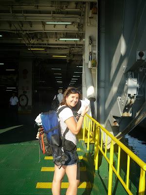 Subiendo a un Ferry en Croacia