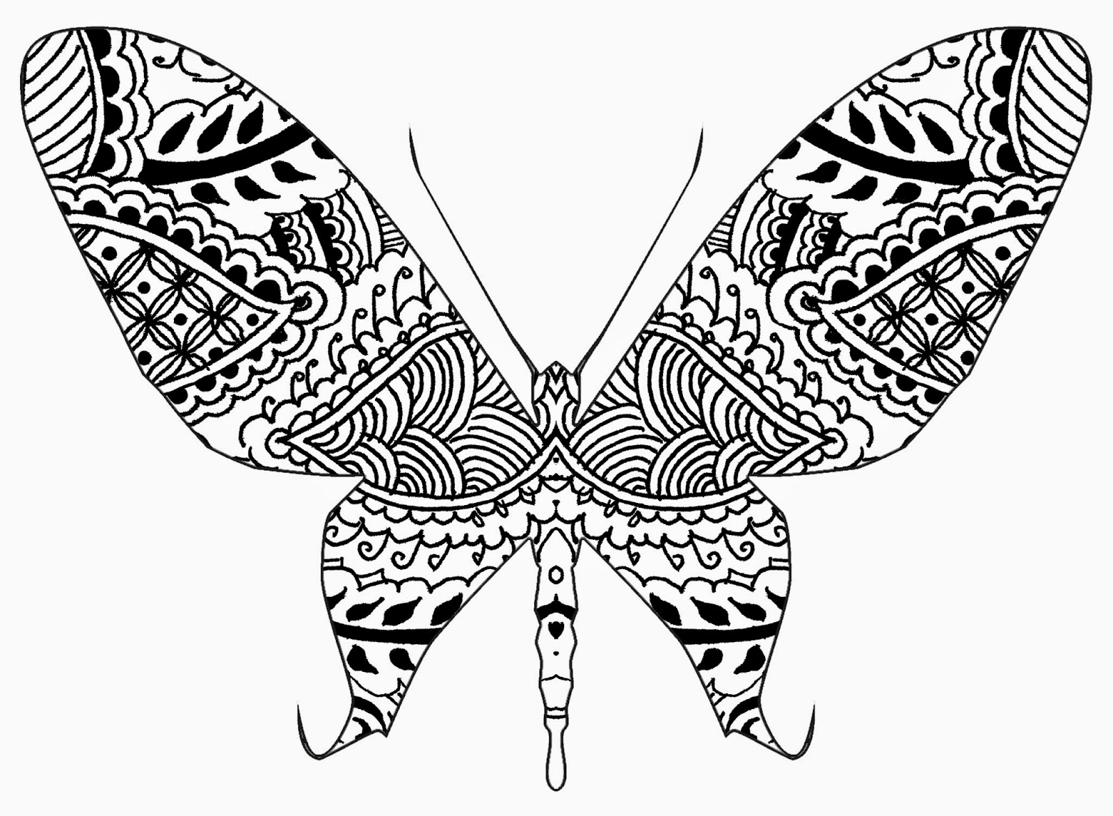 Brendan Burns Art Henna And Zentangle Inspired Butterflies 8