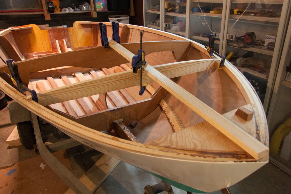 Michael\'s Boatbuilding Blog: Beginning the deck framing