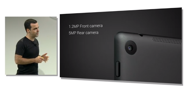 New Nexus 7 camera specs photo