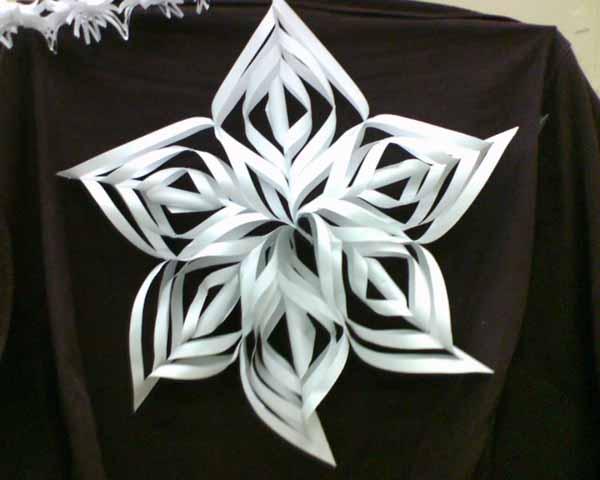 Звезды снежинки из бумаги своими руками