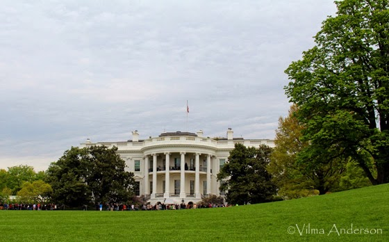 White House view from the South Lawn