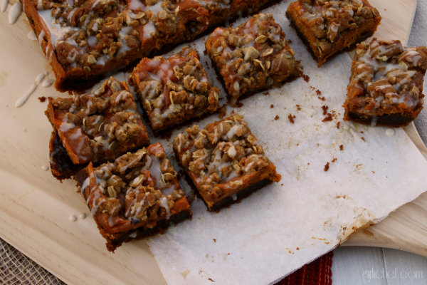 Gingerbread Pumpkin Bars | All Roads Lead to the Kitchen