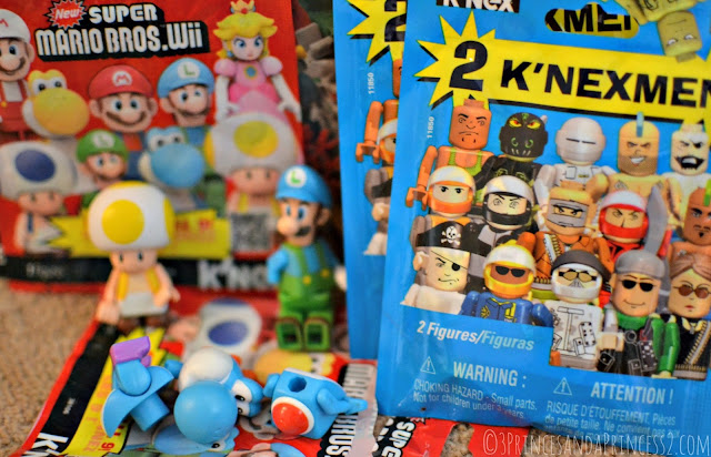 Mario figures and K'NEXmen