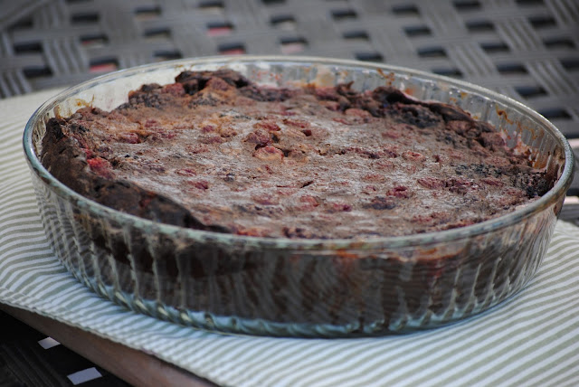 ... devine yum chocolate raspberry clafoutis gourmet march 2009 makes