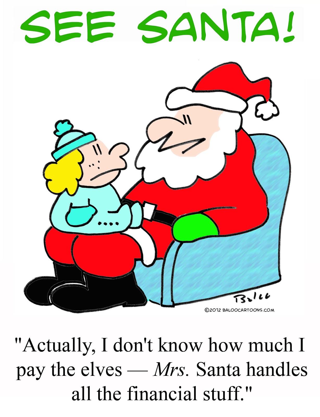 BALOO\'S CARTOON BLOG: Economics of Christmas cartoon