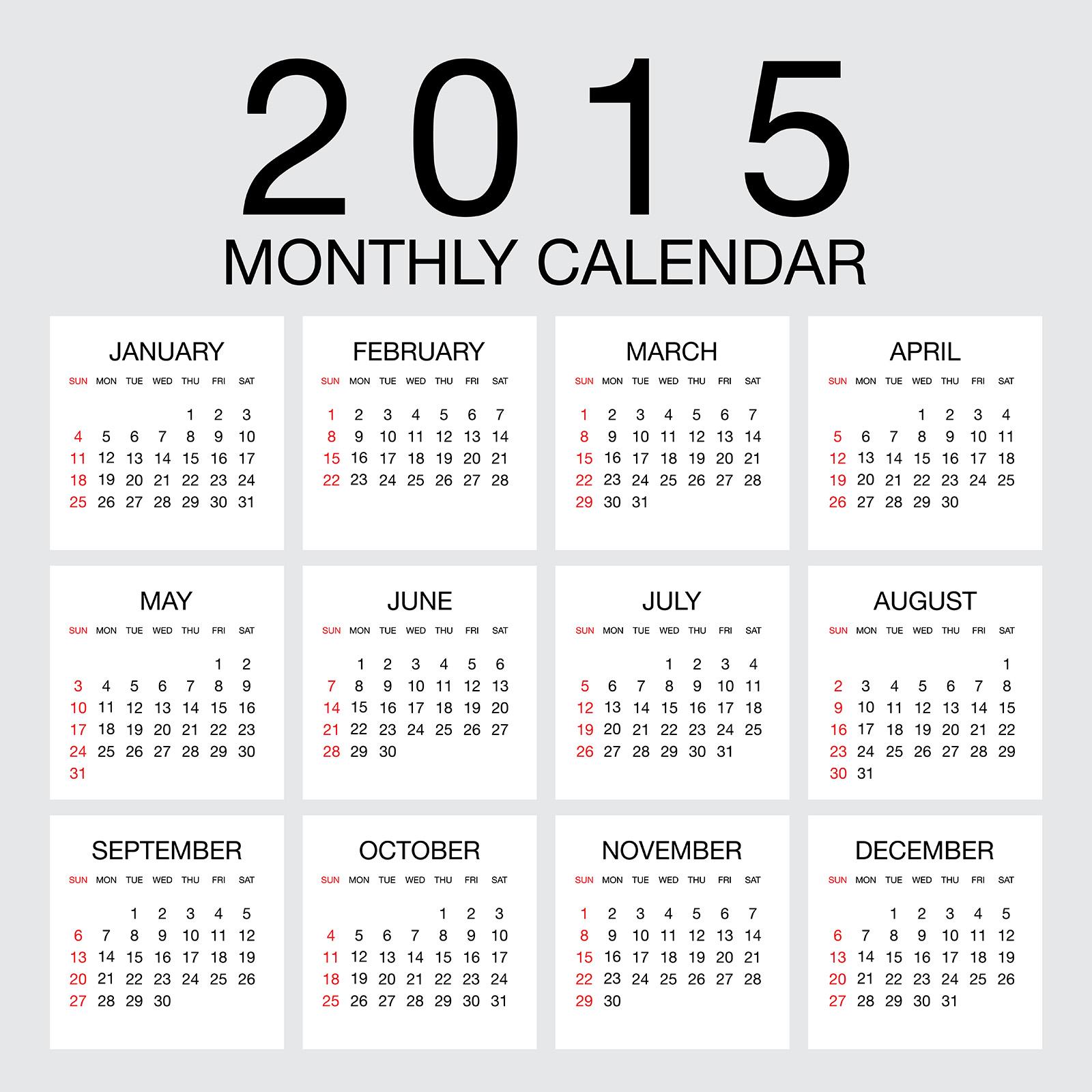 カレンダー 2015 カレンダー 年間 : 2015 カレンダー無料 ...