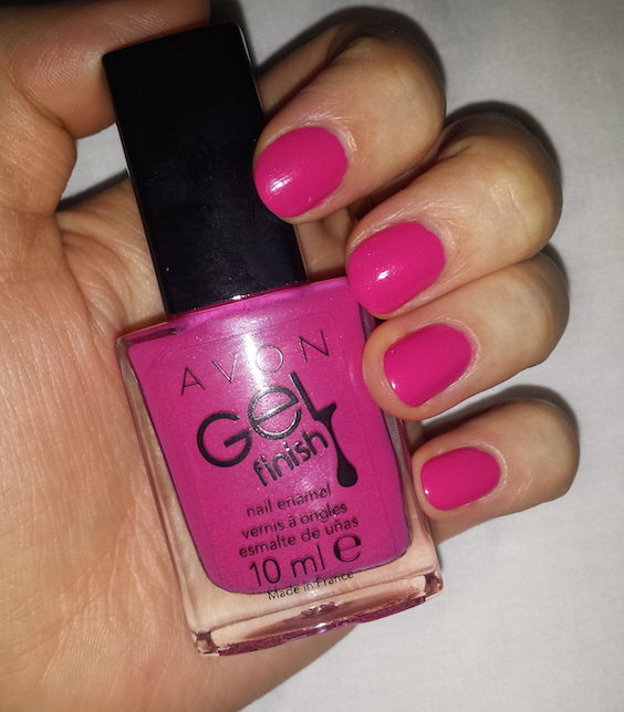 Avon Gel Finish Nail Enamel in Parfait Pink Swatch