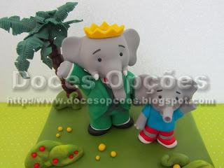 bolo aniversário elefantes