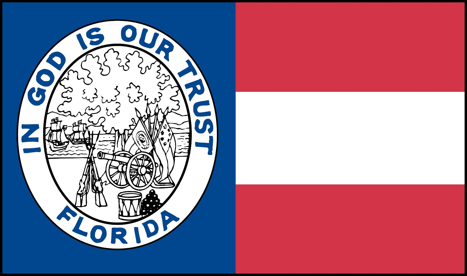 Let it fly floridas state flag in god we trust the perry flag buycottarizona