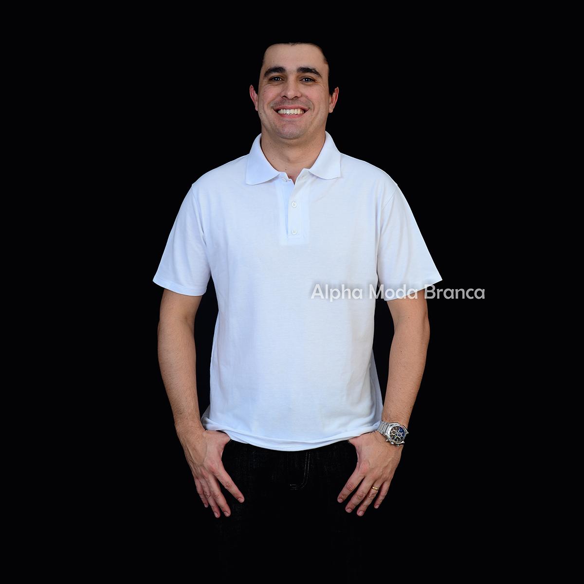 Camisetas para Sublimacao  Camisa Polo - Piquet 50% Poliester 50 ... 5dffc8007b06d